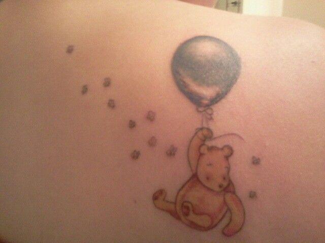 Flying winnie the pooh tattoo
