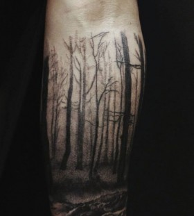 Forest tattoo by David Allen
