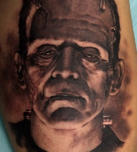 Frankenstein tattoo by Xavier Garcia Boix