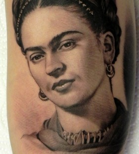 Frida Kahlo tattoo by Xavier Garcia Boix
