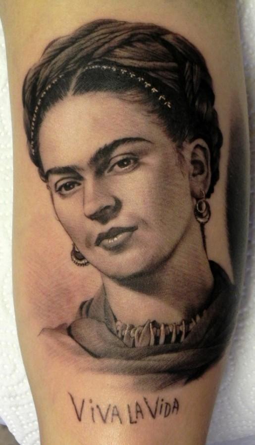 Frida Kahlo tattoo by Xavier Garcia Boix