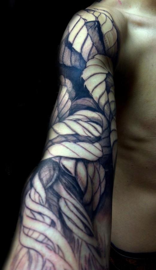 Full arm rope tattoo