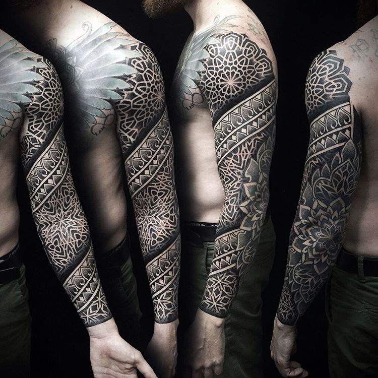 full sleeve tattoo by ivan_hack