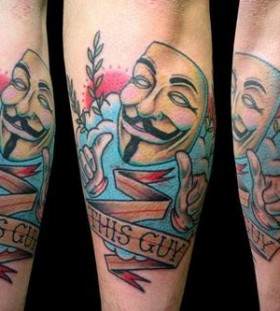 Funny V for vendetta tattoo