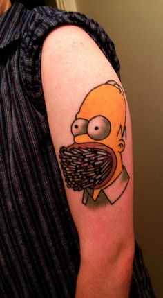 Funny homer tattoo by James McKenna