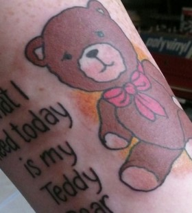 Funny teddy bear quote tattoo