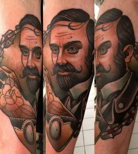 Gentelman tattoo by Alex Dorfler
