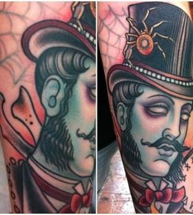 Gentelman zombie tattoo by W. T. Norbert