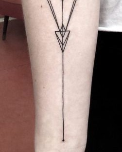 Geometric black arm tattoo
