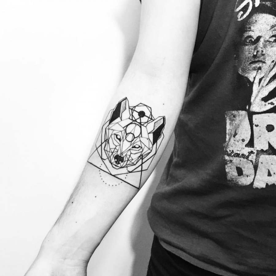 geometric tattoo by daniel matsumoto