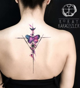 geometric-watercolor-butterfly-tattoo-by-koray_karagozler