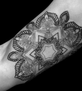 Geometrical arm tattoo by Brian Gomes
