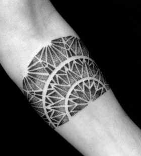 Geometrical tattoo by Brian Gomes