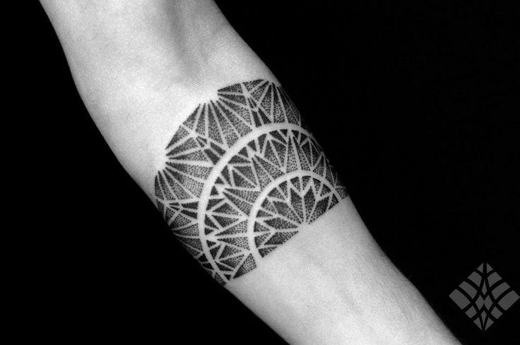 Geometrical tattoo by Brian Gomes