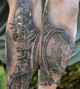 Gladiator tattoo by Elvin Yong