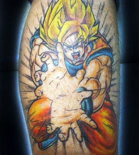Goku super saiyan tattoo
