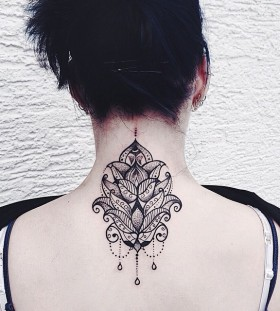 Gorgeous back tattoo by Jessica Svartvit