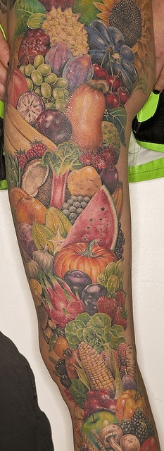Gorgeous looking fruit tattoo