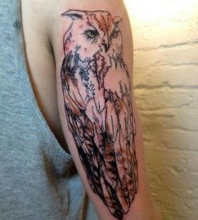 Gorgeous owl arm tattoo