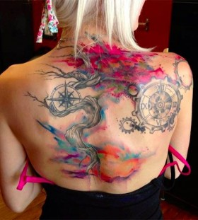 Gorgeous watercolour tattoo