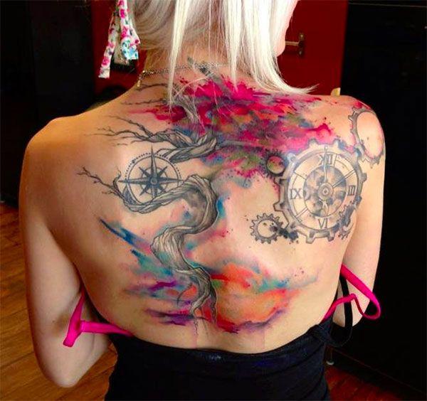 Gorgeous watercolour tattoo