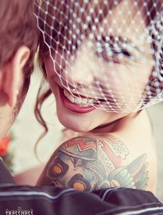 Gorgeous women's bride tattoo
