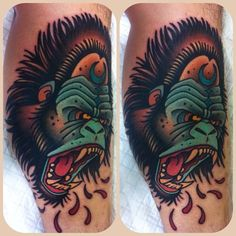 Gorilla tattoo by W. T. Norbert