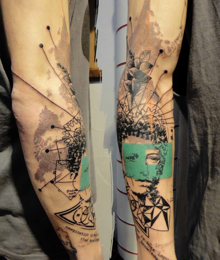 Great arm tattoo by xoil