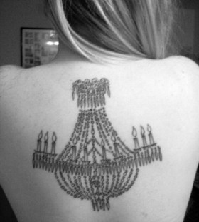 Great chandelier back tattoo