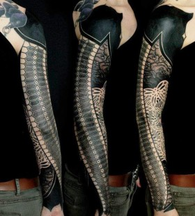 Great full arm tattoo by Gerhard Wiesbeck