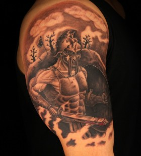 Great gladiator arm tattoo