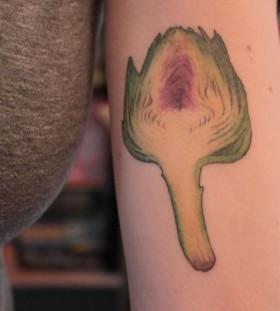 Great green food tattoo