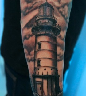 Great lighthouse arm tattoo