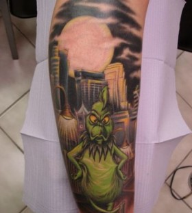 Great looking grinch christmas tattoo