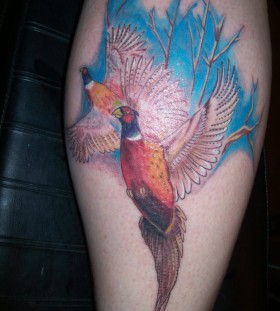 Great pheasant leg tattoo