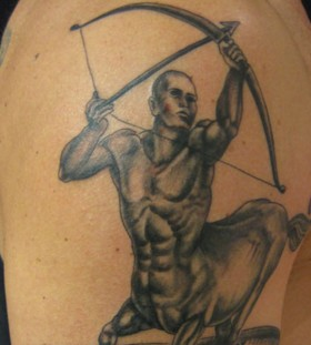 Great sagittarius arm tattoo