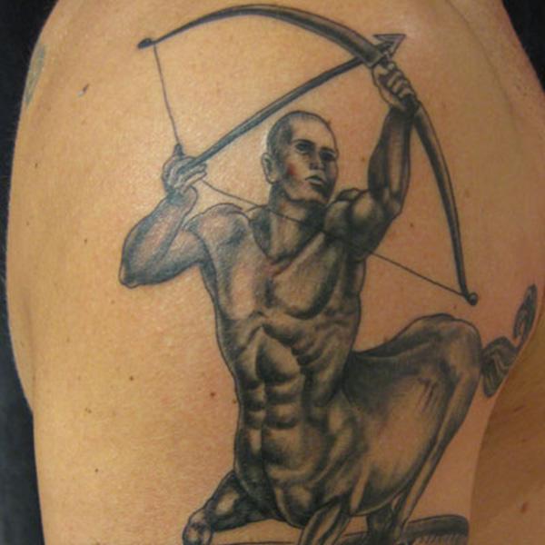 Great sagittarius arm tattoo