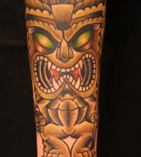 Great tiki arm tattoo