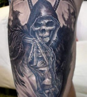 Grim reaper tattoo by Elvin Yong
