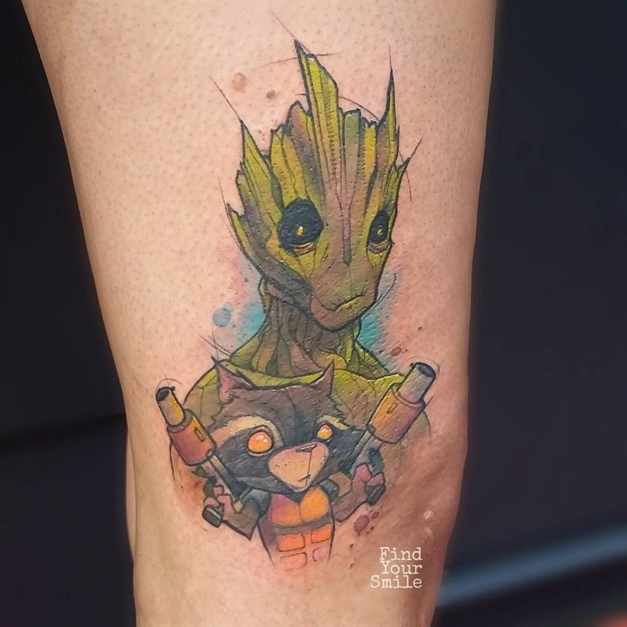 guardians-of-the-galaxy-watercolor-tattoo