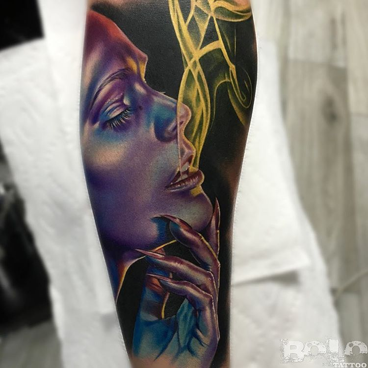 half sleeve tattoo by boloarttattoo
