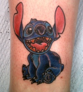 Happy Stitch tattoo