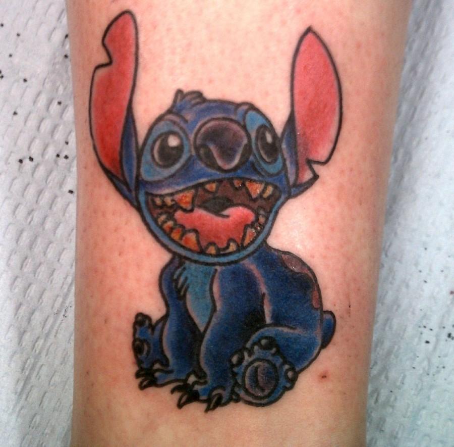 Happy Stitch tattoo
