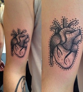 Heart tattoo by Rebecca Vincent