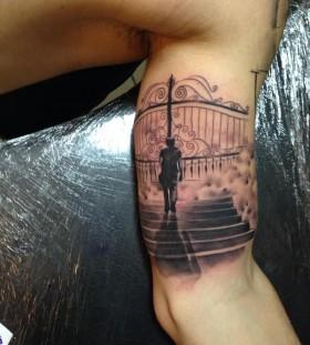Heaven's gates tattoo by Razvan Popescu