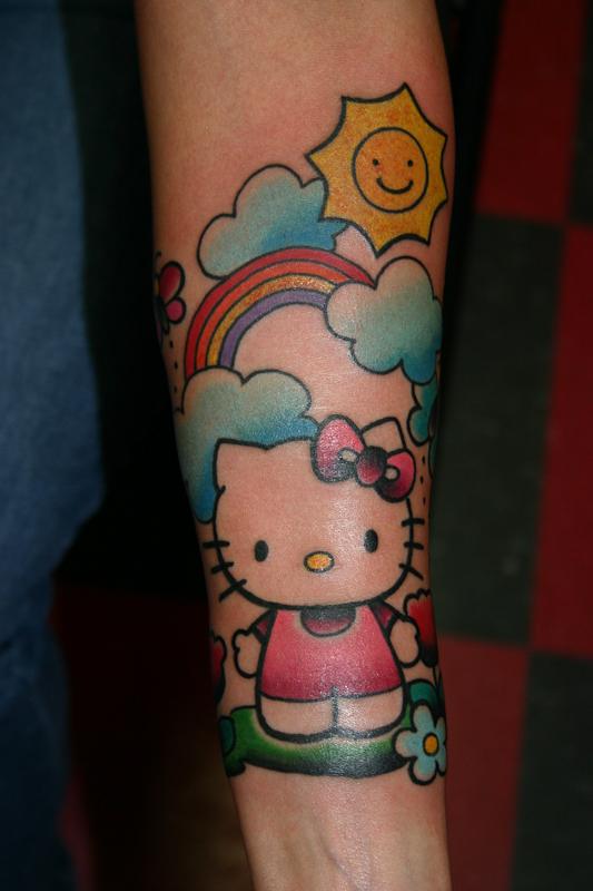 39edbd82f Hello kitty and rainbow tattoo - | TattooMagz › Tattoo Designs / Ink ...