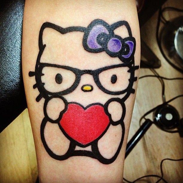 56a600b7e Hello kitty with heart tattoo - | TattooMagz › Tattoo Designs / Ink ...