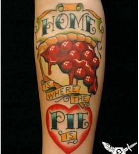 Home green food tattoo