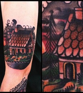 House tattoo by James McKenna