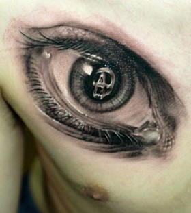 Incredible eye tattoo by James Tattooart